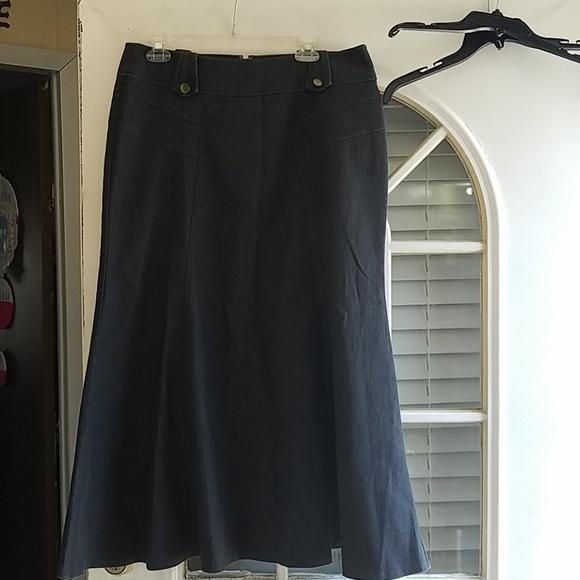 09d829ac8 Cato Dresses & Skirts - Cato womens long denim skirt size 12